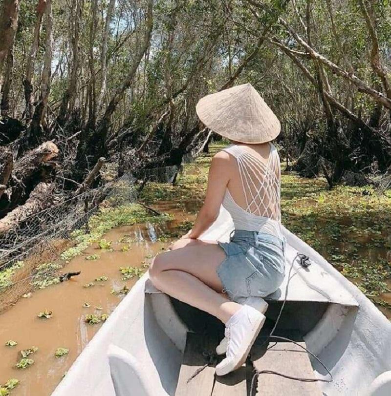 du lịch rừng tràm trà sư an giang