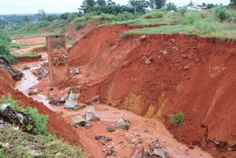 Baic đất bị xói mòn, rửa trôi lớp bề mặt